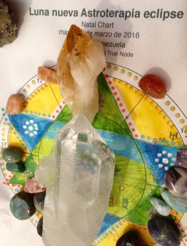 Mandala en mapa natal de la Astroterapia activado con minerales (Mandalas, Piedras y Mapas Natales)